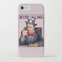 better call saul iPhone & iPod Cases featuring Better Call Saul by Magdalena Almero