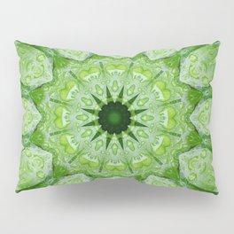 Green Mandala Plant Pillow Sham
