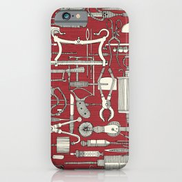 fiendish incisions claret iPhone Case