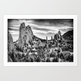 Garden of the Gods {HDR} Art Print
