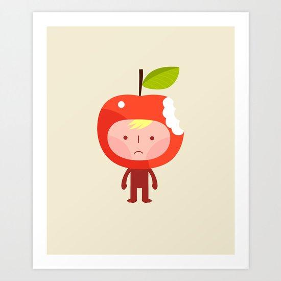 Apple face Art Print