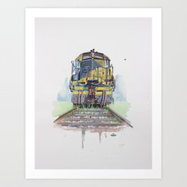 yellowfreight Art Print