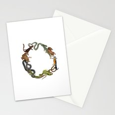 Reptile Wreath Stationery Cards