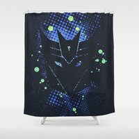 transformers Shower Curtains featuring Grunge Transformers: Decepticons by Sitchko Igor