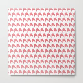 Coral Pink Faceted Horse pattern Metal Print