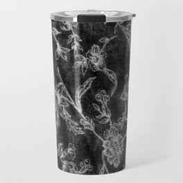 Flower Pattern (Black version) Travel Mug