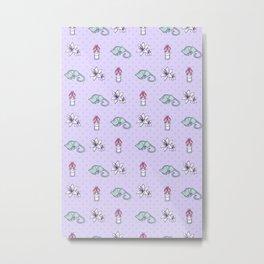 Kitties and Lilies Metal Print