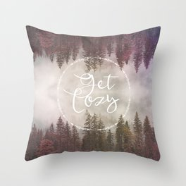 Get Cozy Fall Reflections Throw Pillow