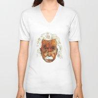 einstein V-neck T-shirts featuring Einstein by Jason Ratliff