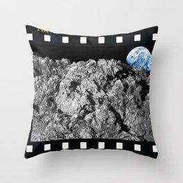 Lunar Wood Throw Pillow