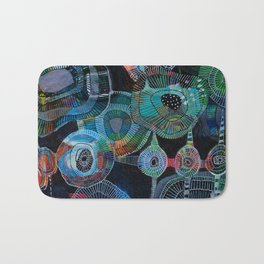 jellyfish picnic Bath Mat