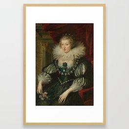 Anne of Austria (1601-1666). Wife of Louis XIII, king of France, workshop of Peter Paul Rubens, 1625 Framed Art Print
