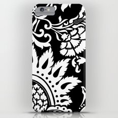 damask in white and black iPhone 6 Plus Slim Case