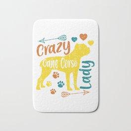 Crazy Cane Corso Lady Bath Mat