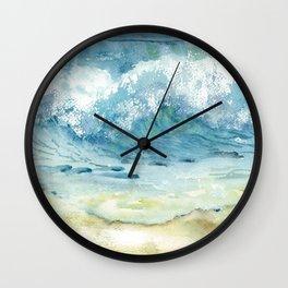 Ocean Waves Solana Beach Wall Clock