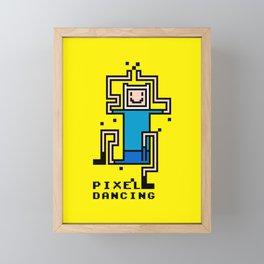 Pixel dancing Framed Mini Art Print