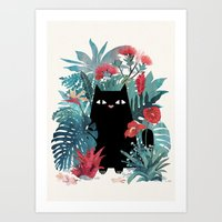 spring Art Prints featuring Popoki by littleclyde