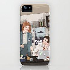 Teen Wolf X-Files AU (Stiles Stilinski & Lydia Martin) Slim Case iPhone (5, 5s)