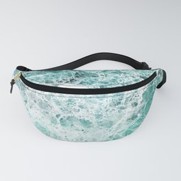 Sea foam teal marble Fanny Pack