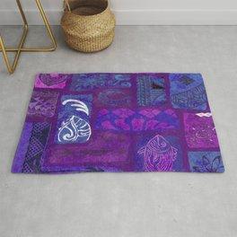 Hawaiian Tapa Collage Rug