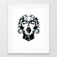 madonna Framed Art Prints featuring Madonna  by yvaingeni