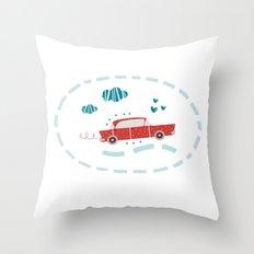A ride Throw Pillow