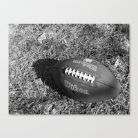 football Canvas Prints featuring Football by AraDemi