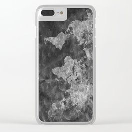 world map 55 black Clear iPhone Case