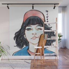 I'll knock you flying! (baseball girl) Wall Mural