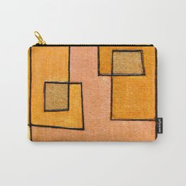 Protoglifo 04 'yellow hugging pink' Carry-All Pouch