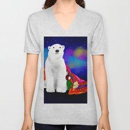 Fary tale White Bear Unisex V-Neck