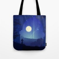 iron giant Tote Bags featuring Iron Giant by Ape Meets Girl