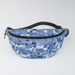 Tiles Delft Blue ~ 3 Fanny Pack
