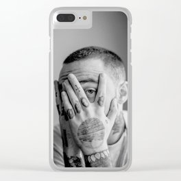 Mac Miller Black And White Portrait Clear iPhone Case