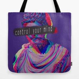 Control your mind vaporwave statue Marcus Aurelius Tote Bag