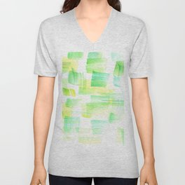 180527 Abstract Watercolour 21| Watercolor Brush Strokes Unisex V-Neck
