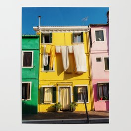 Beautiful Burano Italy Poster