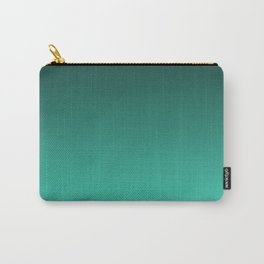 Turquoise Ombre. Carry-All Pouch