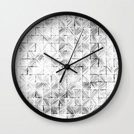 Ink Stitch: White Howlite Wall Clock