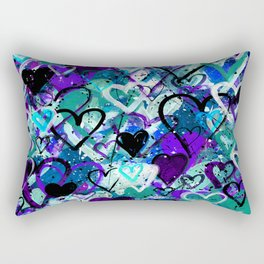 A Thousand Hearts No.1i by Kathy Morton Stanion Rectangular Pillow
