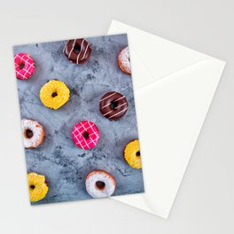 Glazed Donuts Stationery Cards