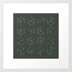 #38 Phantom cubes – Geometry Daily Art Print