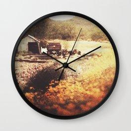 Below the Mountain Wall Clock