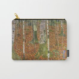 Gustav Klimt - Farmhouse With Birch Trees  Carry-All Pouch