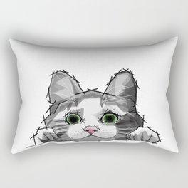 The Curious Cat 01 Rectangular Pillow