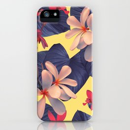Mixed Tropical Floral iPhone Case