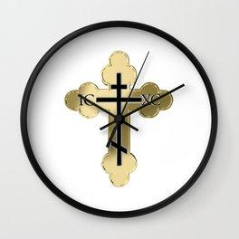 Christian orthodox cross Wall Clock