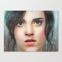 emma watson Canvas Prints featuring Emma Watson by taryndraws2