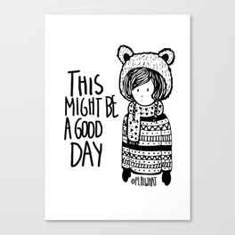 Teddy Bear Boy  Canvas Print