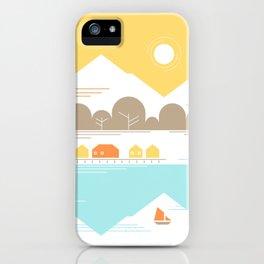 Burly Men at Sea Village iPhone Case